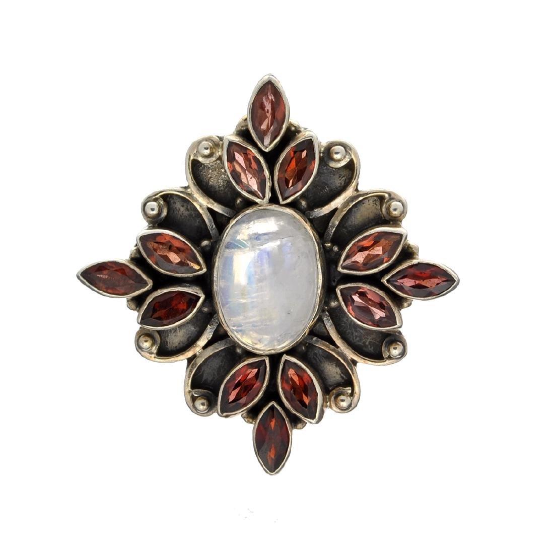 Rare Designer Sebastian Vintage, Garnet And Opal