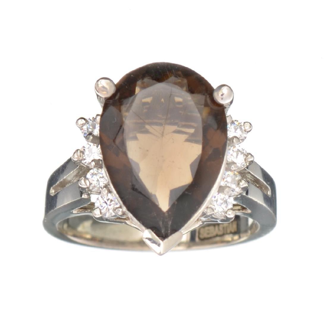 APP: 0.6k Fine Jewelry Designer Sebastian, 4.04CT Smoky