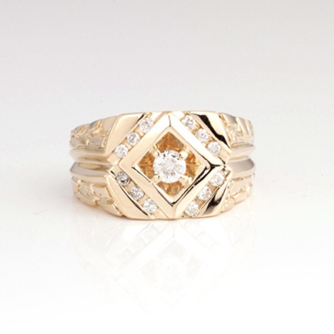 *Fine Jewelry 14 kt. Gold, New Custom Made 0.45CT