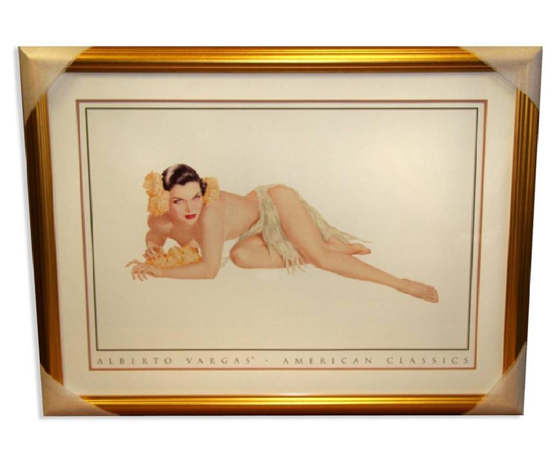 Alberto Vargas (Hawaii Girl) Exquisitely Museum Framed