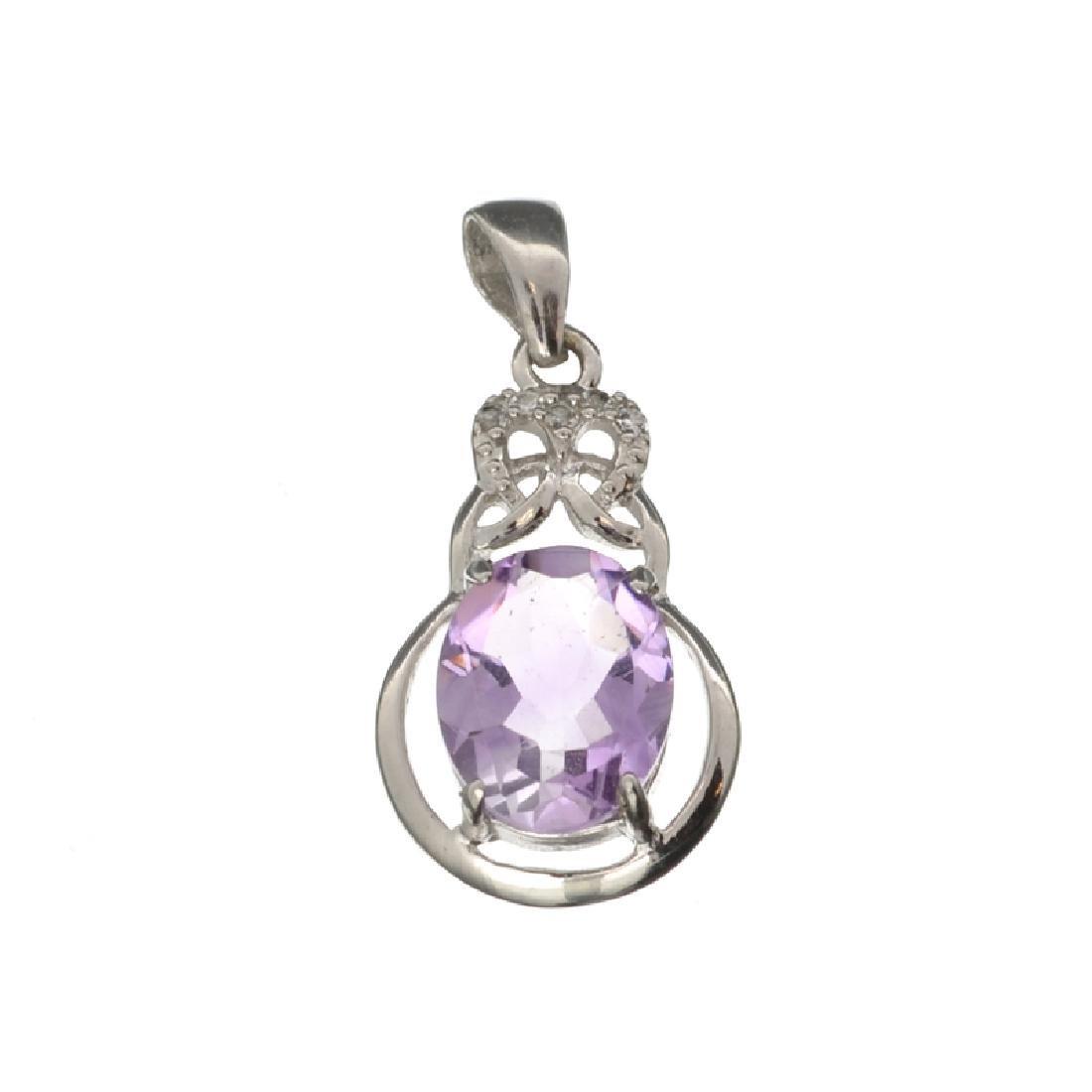 APP: 0.3k Fine Jewelry 2.18CT Purple Amethyst And White