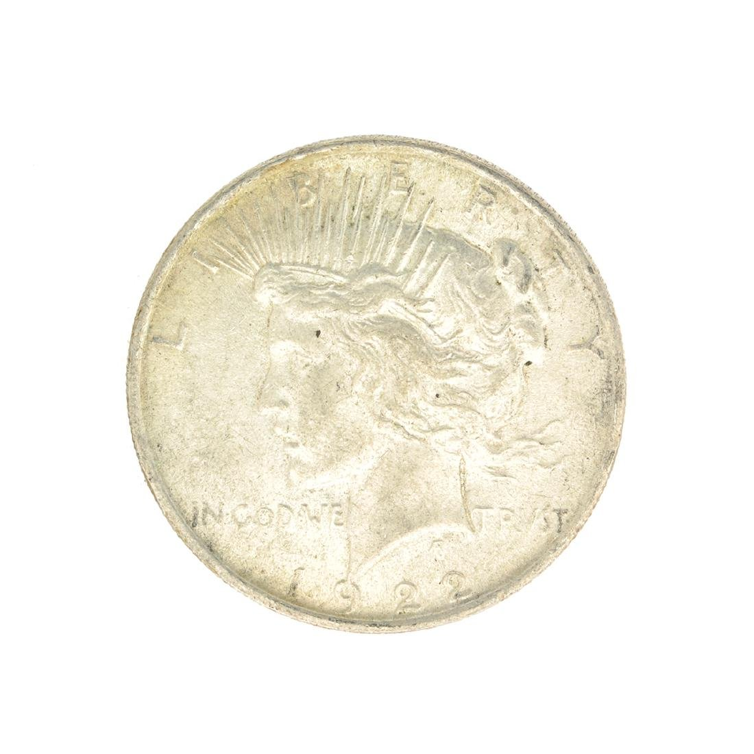 Rare 1922 U.S. Peace Type Silver Dollar