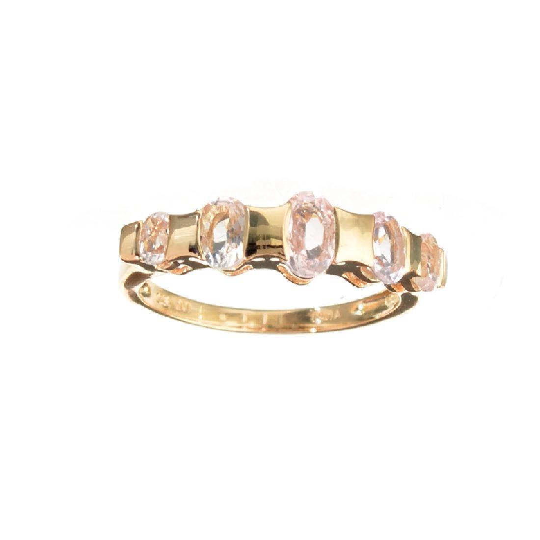 APP: 0.9k Fine Jewelry 1.33CT Oval Cut Morganite Over