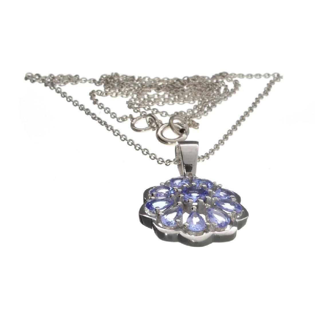 Fine Jewelry 0.20CT Round Cut Tanzanite And Platinum