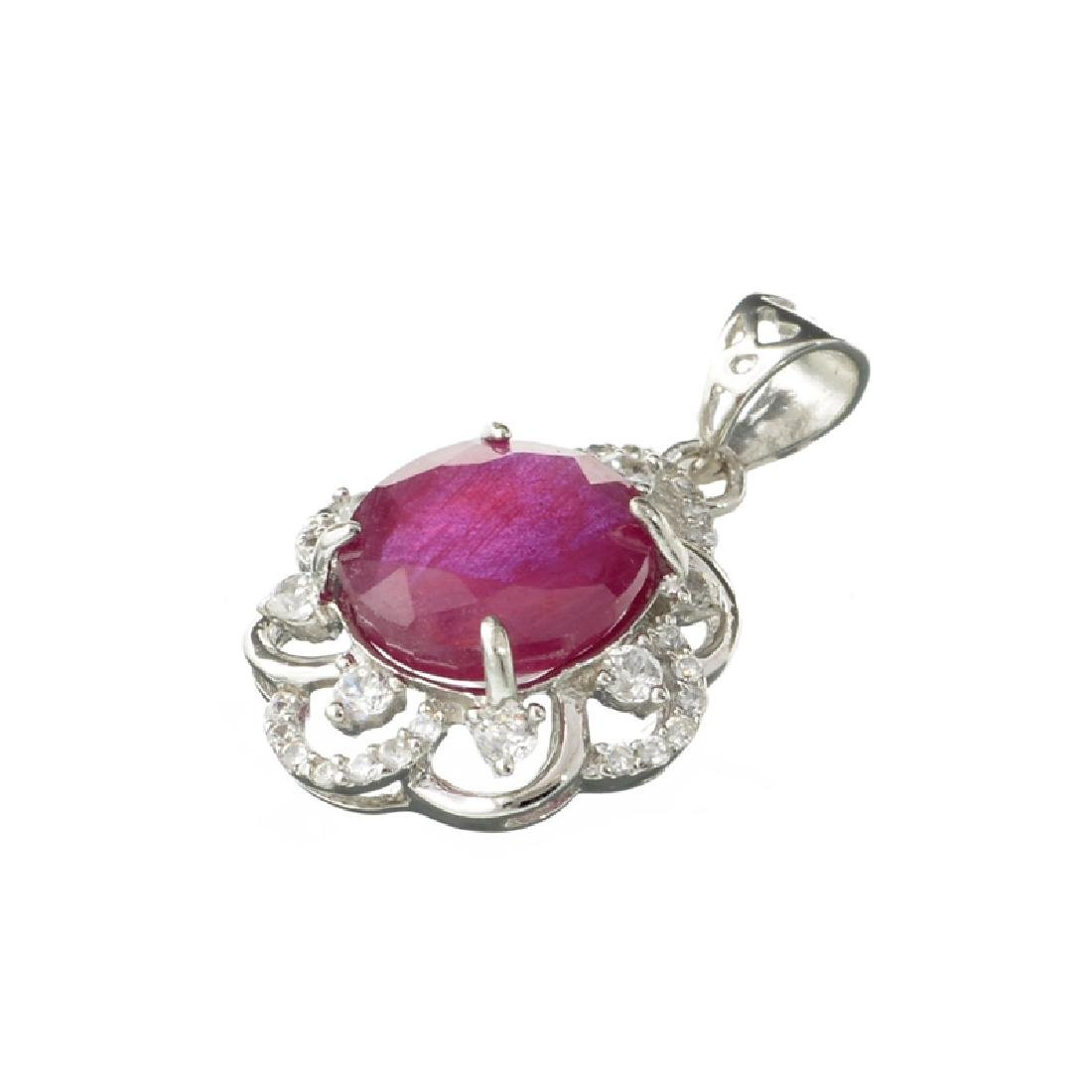 APP: 2.1k Fine Jewerly 6.00CT Oval Cut Ruby And White