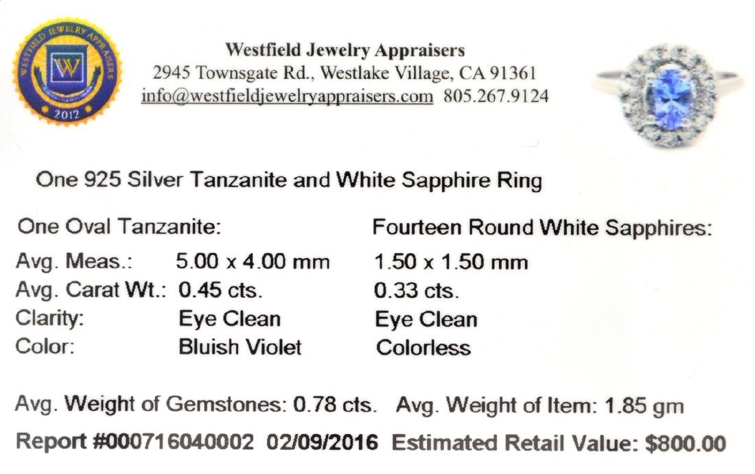 APP: 0.8k Fine Jewelry 0.78CT Tanzanite And White - 2