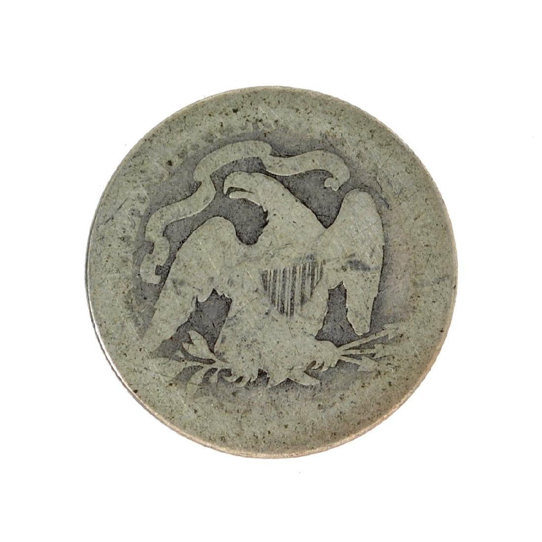 1891 Liberty Seated Quarter Dollar Coin - 2