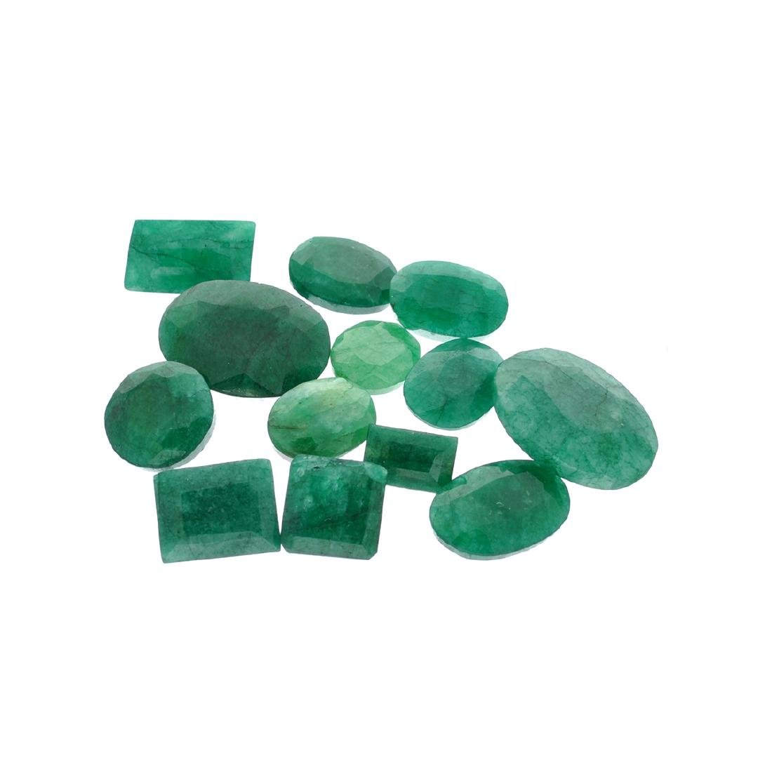 APP: 7.5k 100.25CT Various Shapes Green Emeral Parcel -