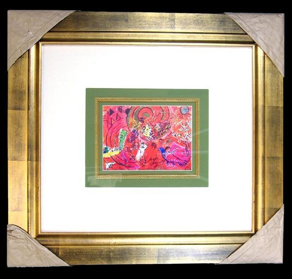 3514: Marc Chagall, Hand Signed, Certified Museum Print