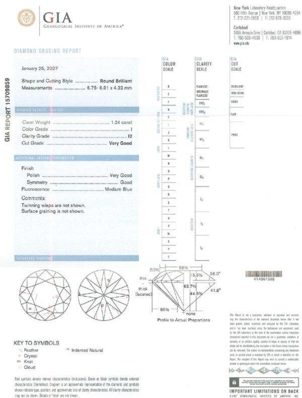 3520: GOV: 1.24CT GIA Diamond Gemstone, INVESTMENT!! - 3