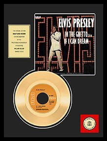 3524: ELVIS PRESLEY ''If I Can Dream'' Gold LP