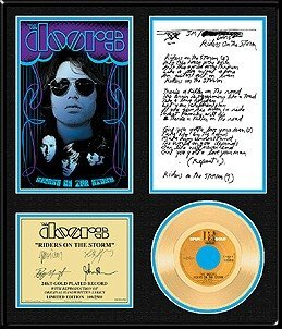 3536: THE DOORS ''Riders on the Storm'' Gold LP w/lyric
