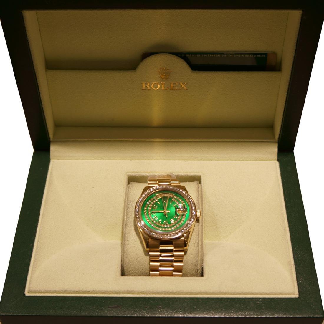 *18kt Yellow Gold Men's Rolex Presidential (Green Dial)