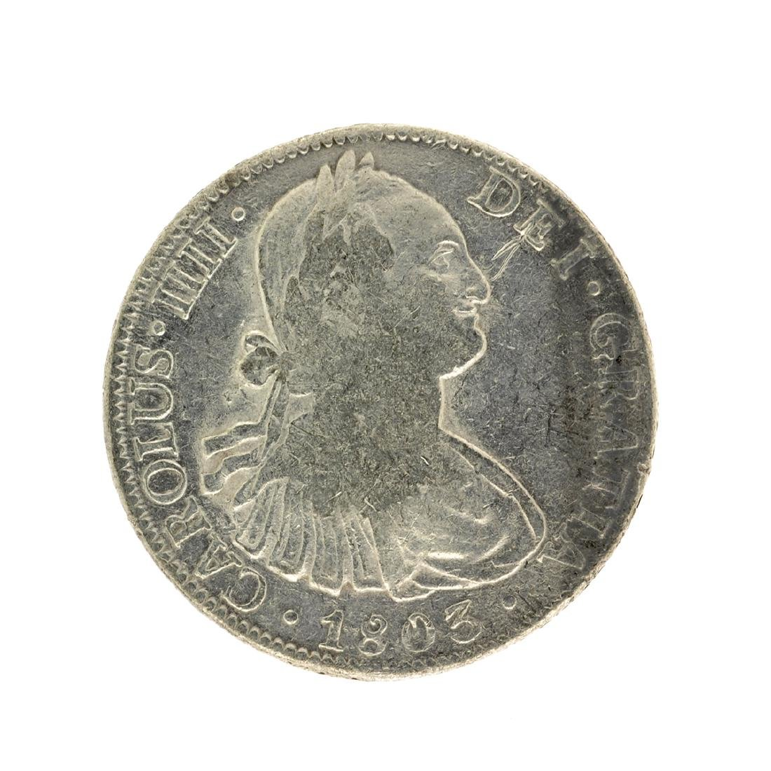 1803 Extremely Rare Eight Reales American First Silver