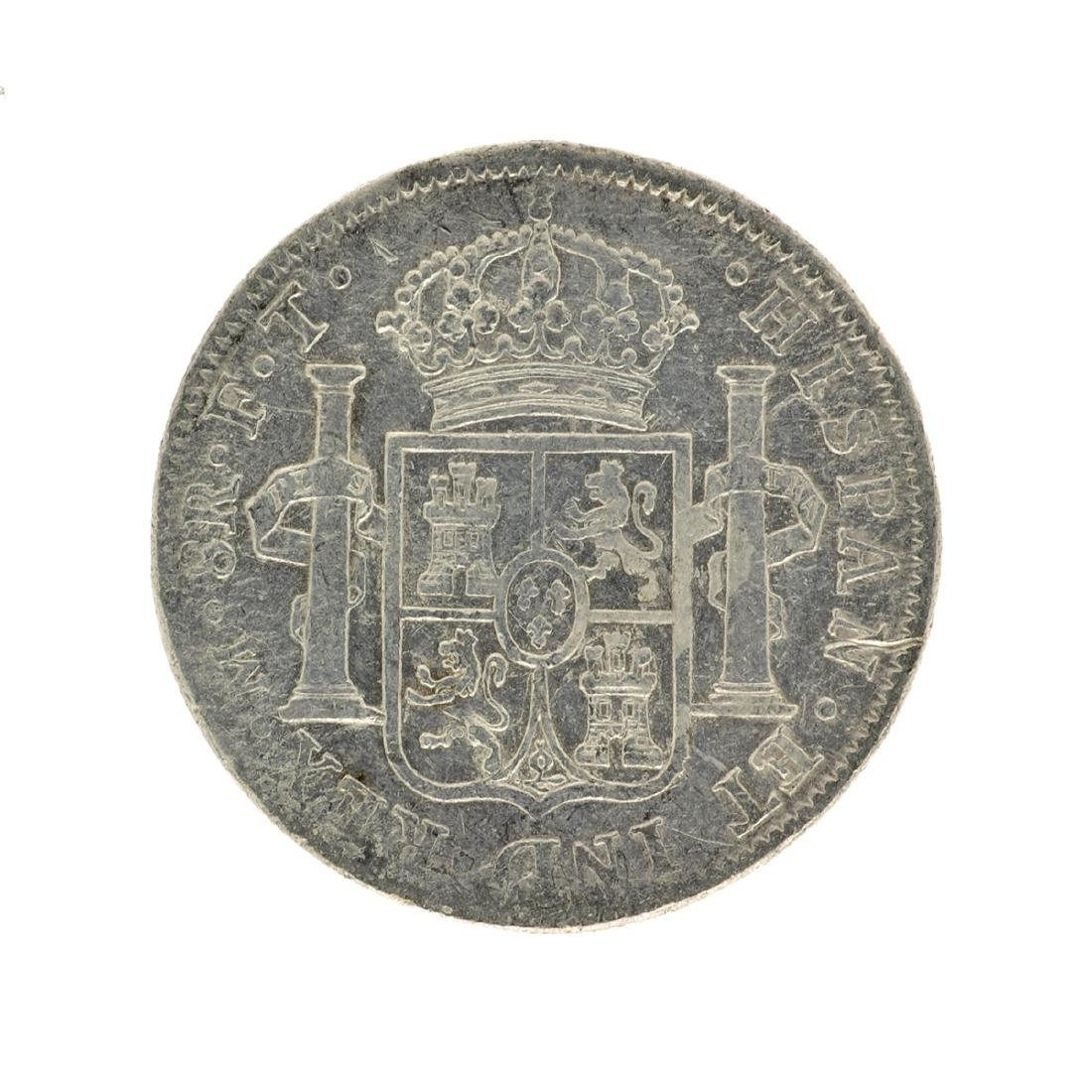 1803 Extremely Rare Eight Reales American First Silver - 2