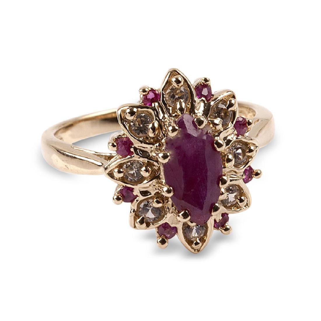 APP: 1.4k 14 kt. Gold, 2.06CT Ruby And White Sapphire