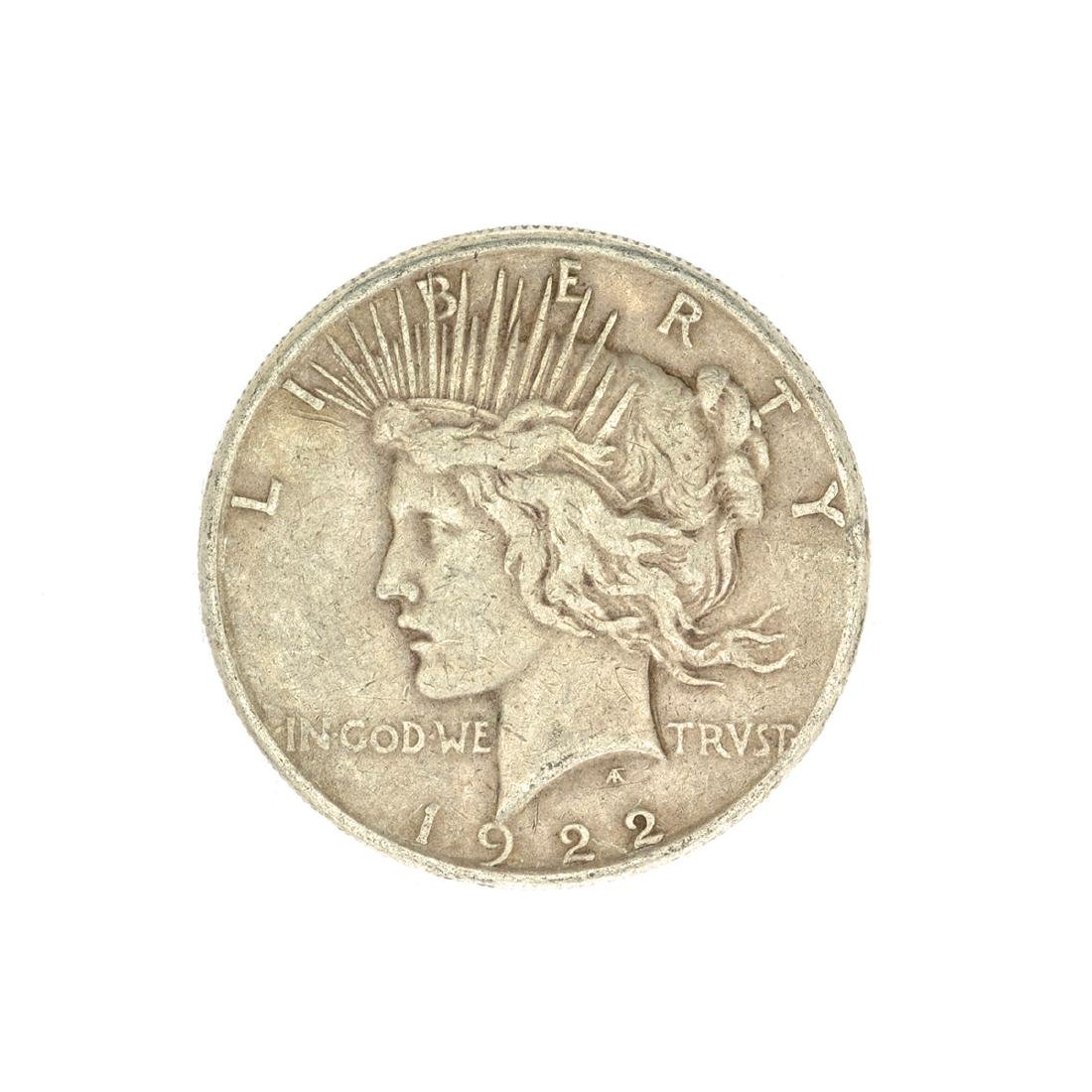 1922-S U.S. Peace Type Silver Dollar Coin