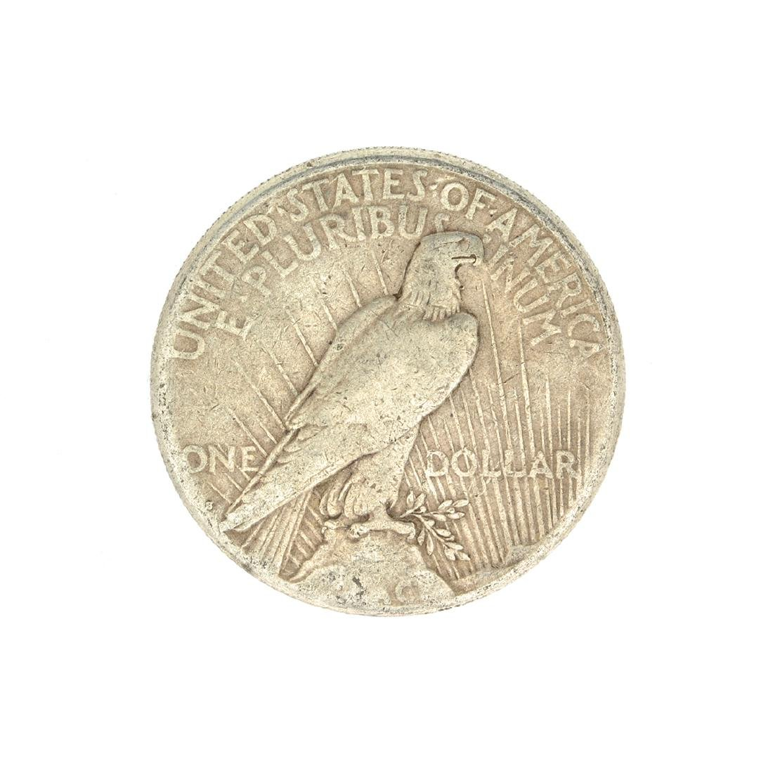 1922-S U.S. Peace Type Silver Dollar Coin - 2