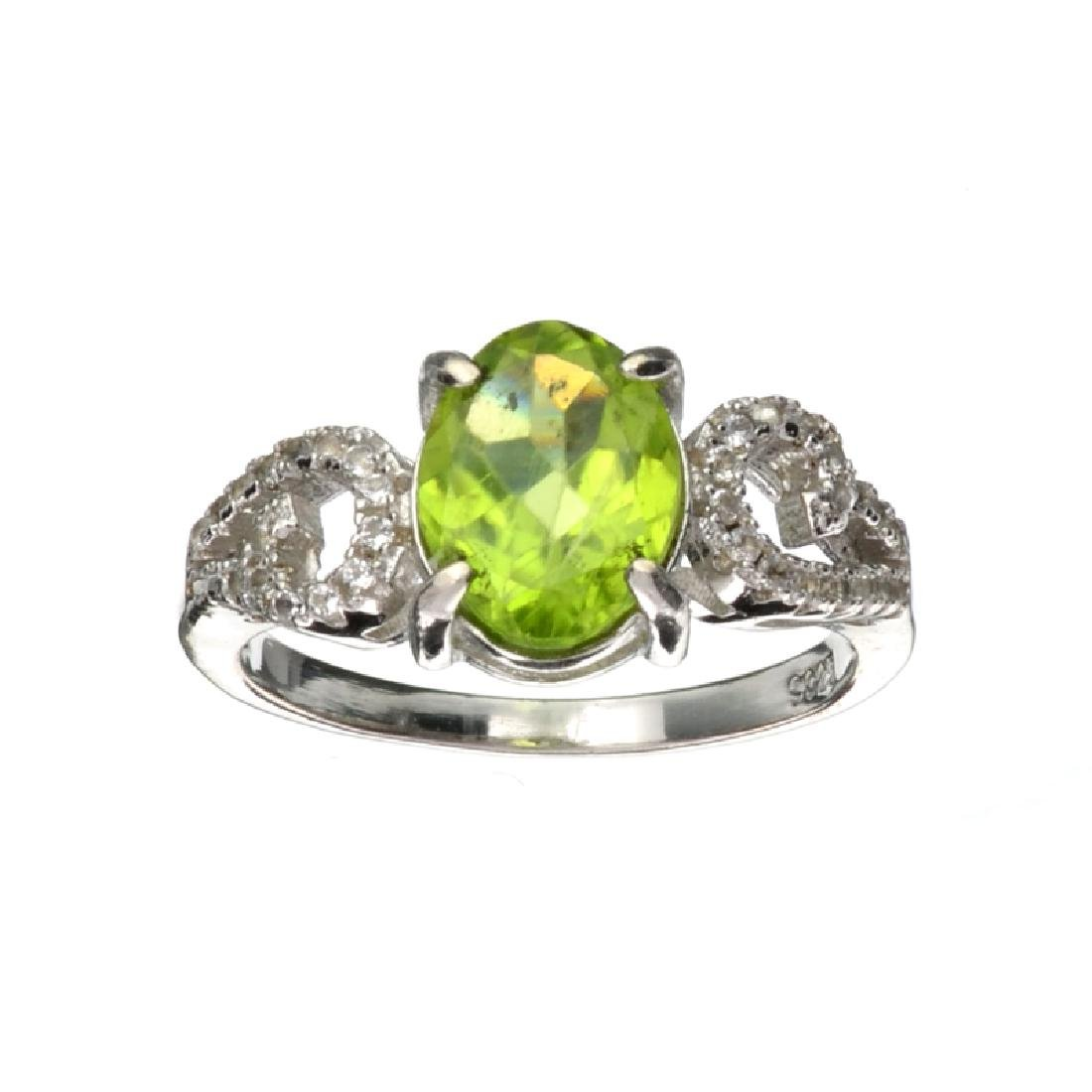 APP: 1k Fine Jewelry 2.16CT Green Peridot And Colorless