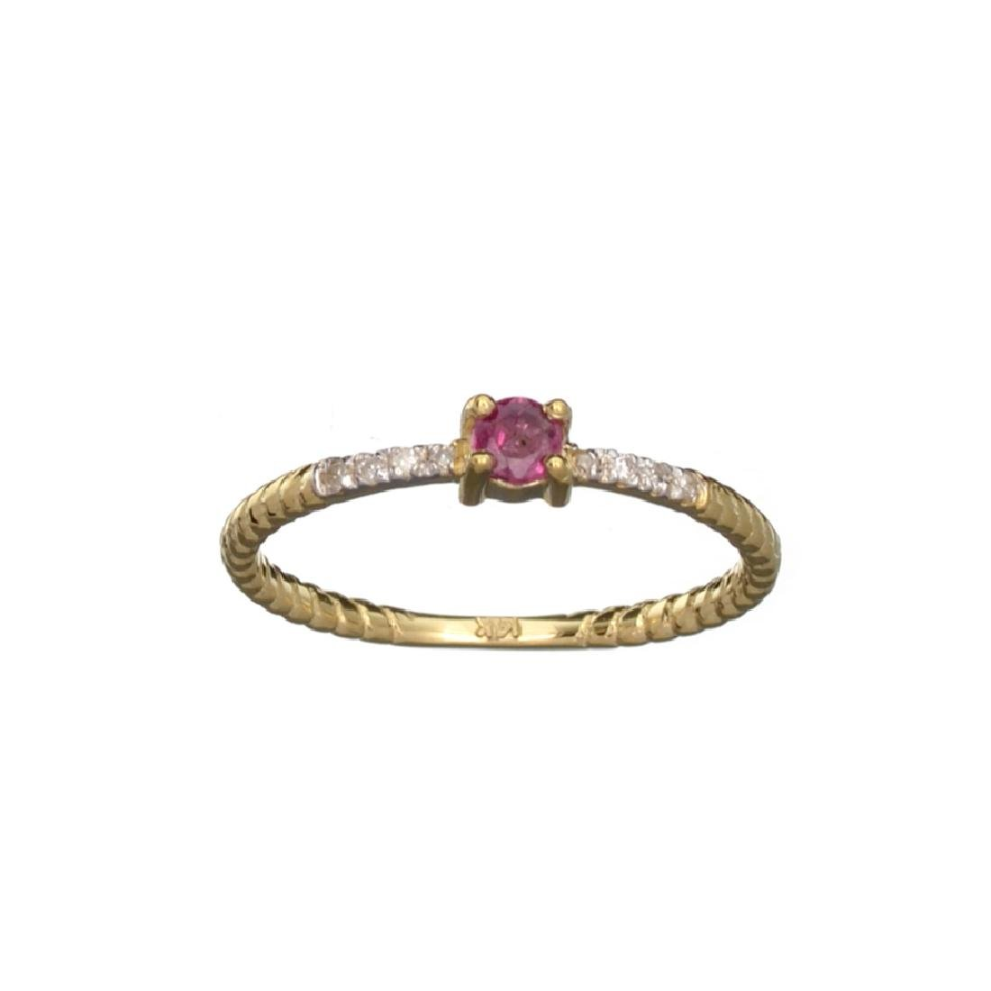APP: 0.5k Fine Jewelry 14 KT Gold, 0.23CT Red Ruby And