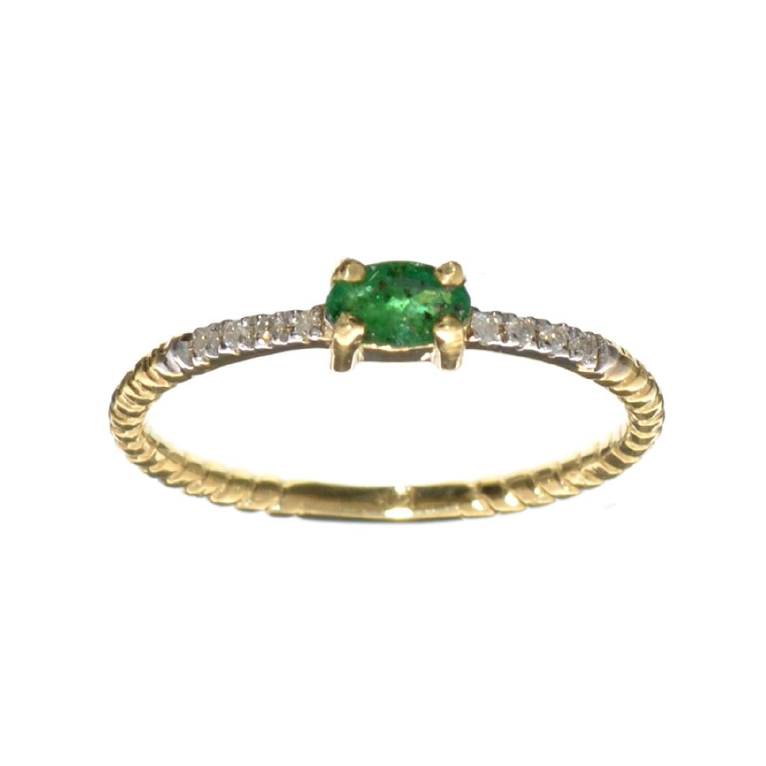 APP: 0.7k Fine Jewelry 14 KT Gold, 0.20CT Emerald and