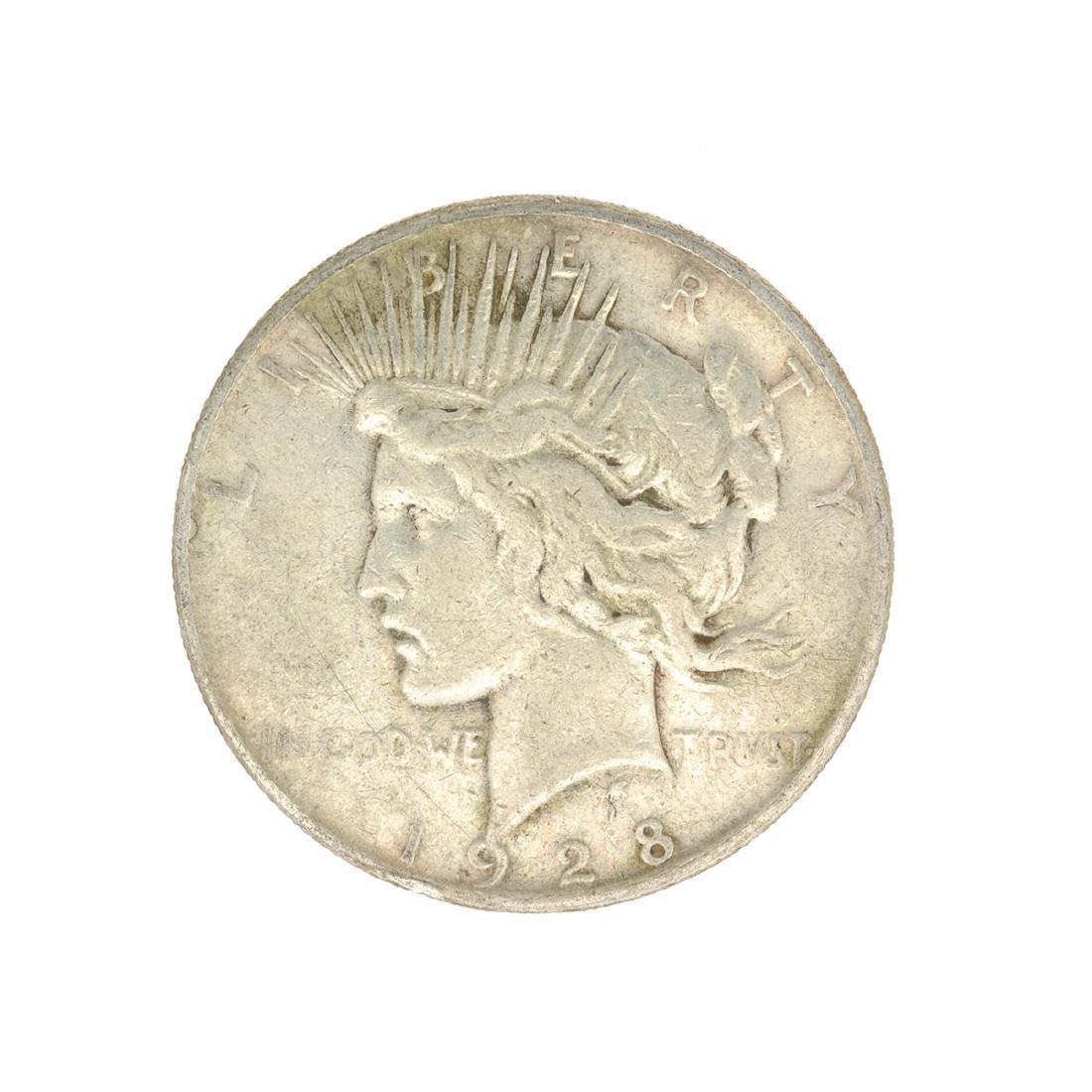 Rare 1928-S U.S. Peace Type Silver Dollar