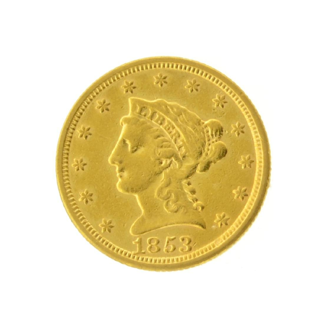 1853 $2.50 Liberty Head Gold Coin