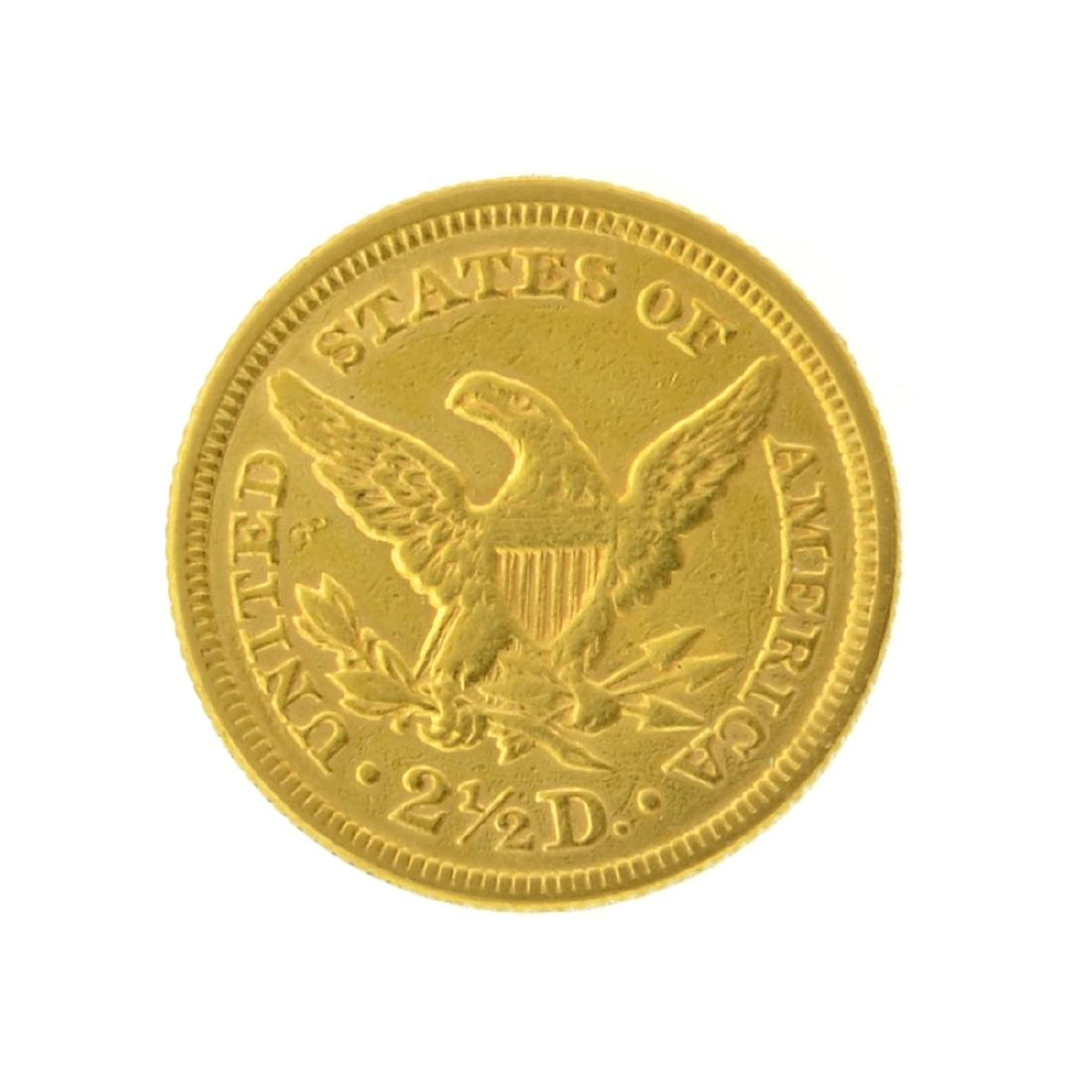 1853 $2.50 Liberty Head Gold Coin - 2