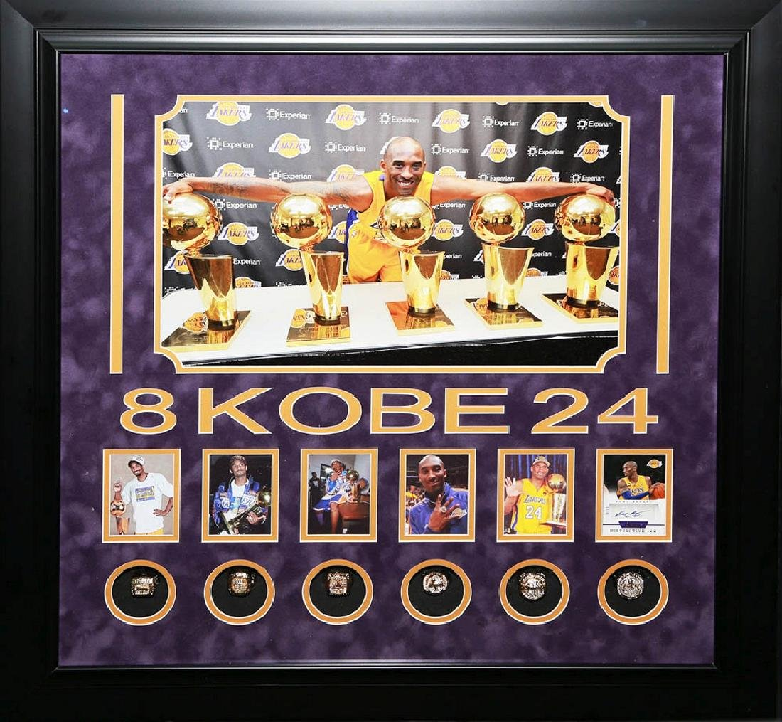 Kobe Bryant Collage with Rings