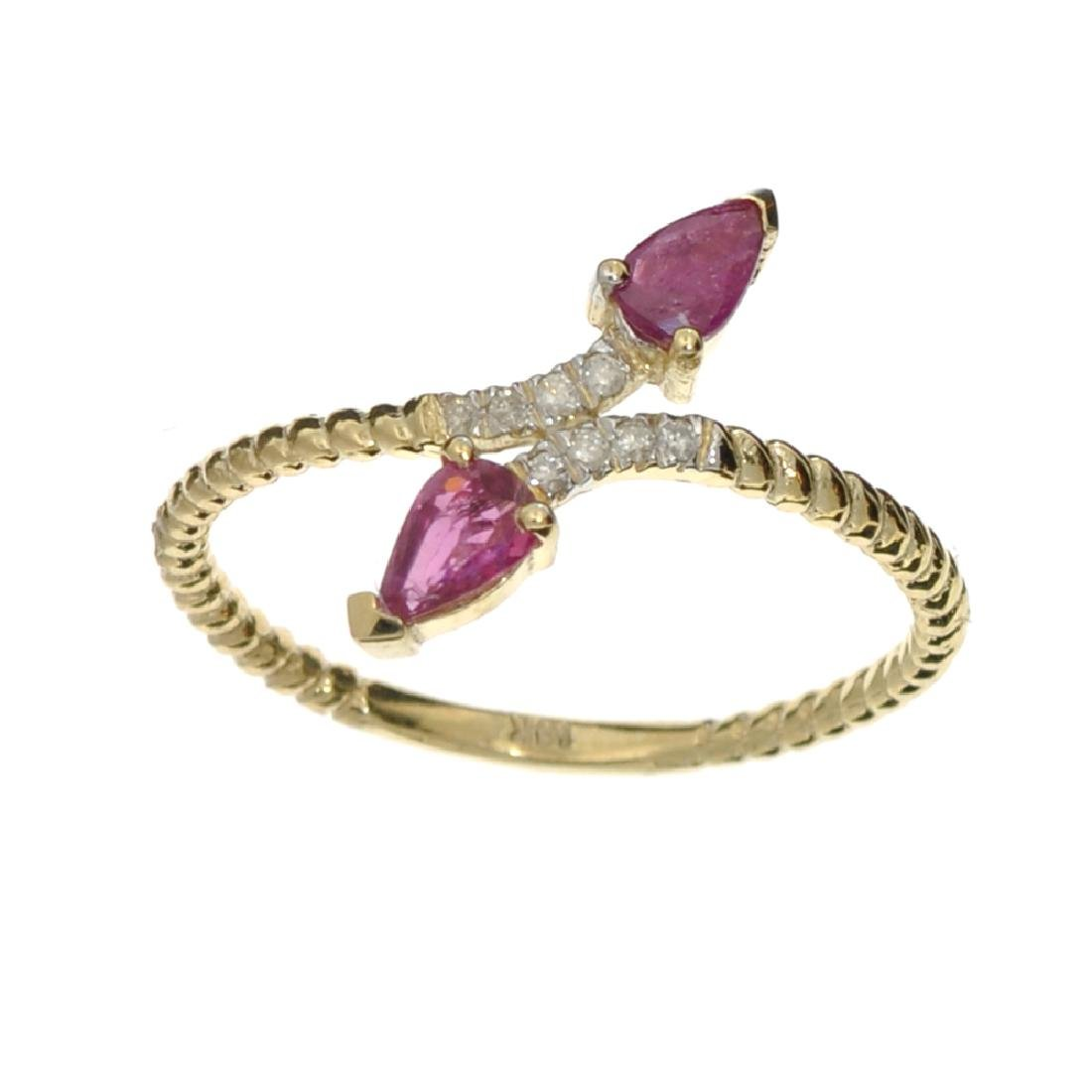 APP: 0.8k Fine Jewelry 14 KT Gold, 0.53CT Ruby And