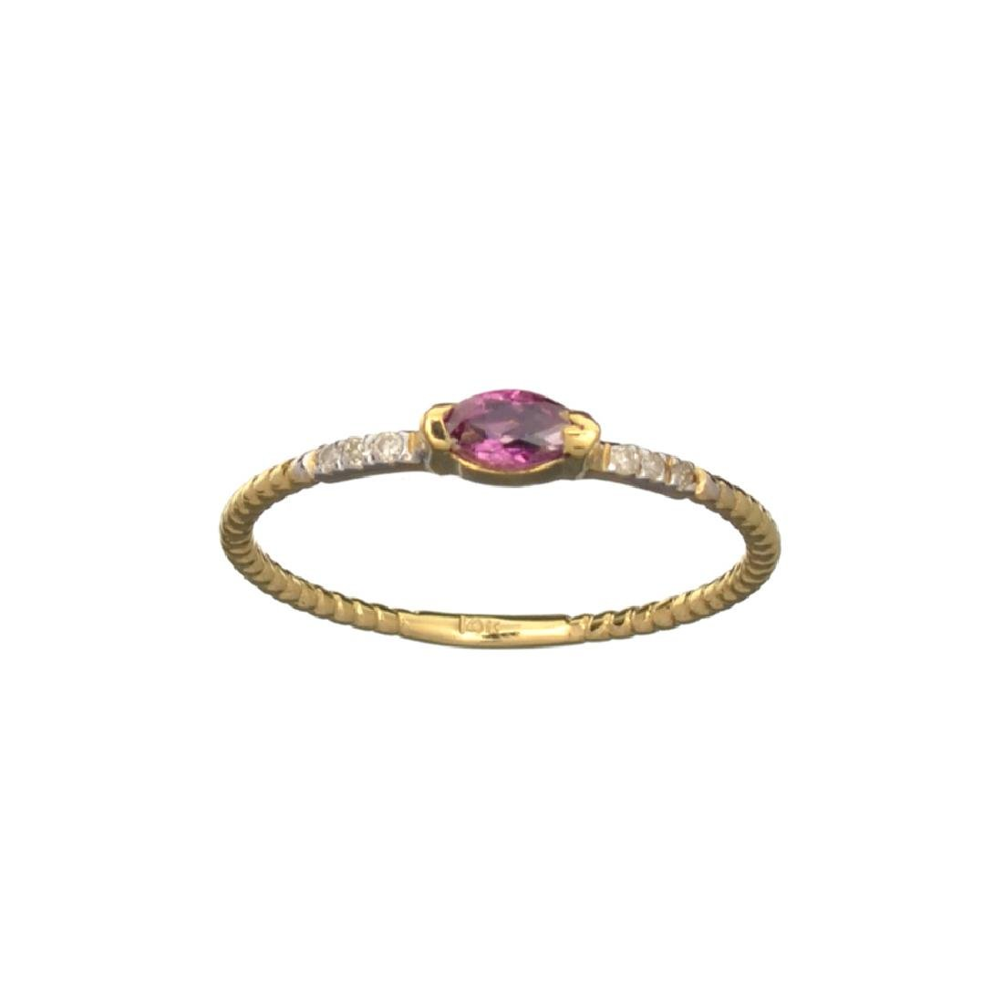 APP: 0.4k Fine Jewelry 14 KT Gold, 0.20CT Red Ruby And