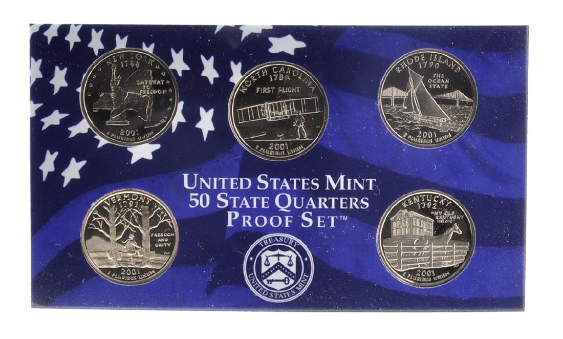 2001 United States Mint Proof Coin Set - 2