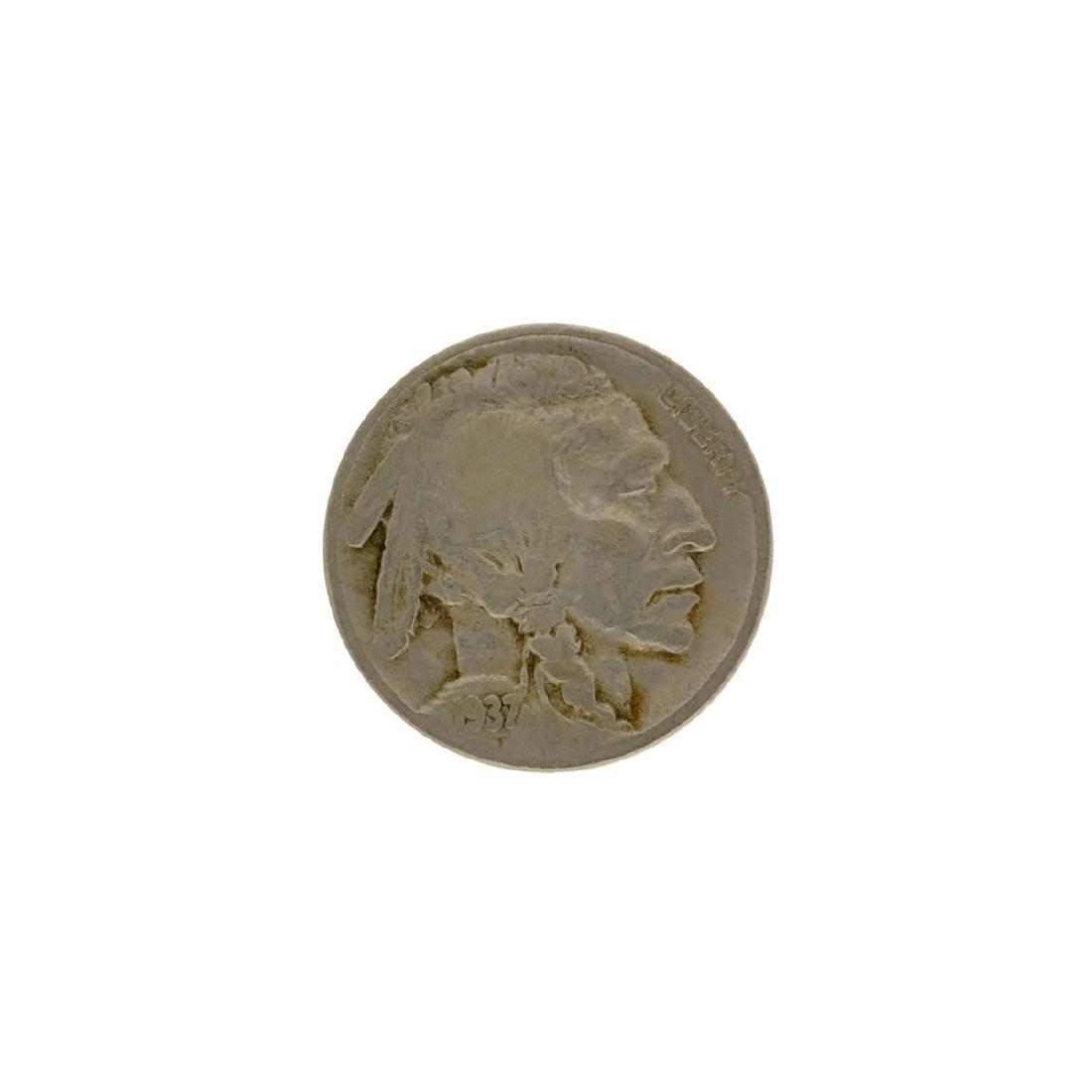 Rare 1937-D 3 Leg Buffalo Nickel Coin