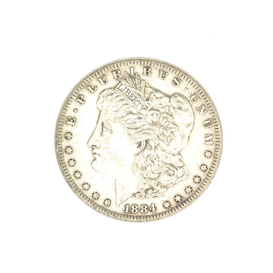 1884 U.S. Morgan Silver Dollar Coin
