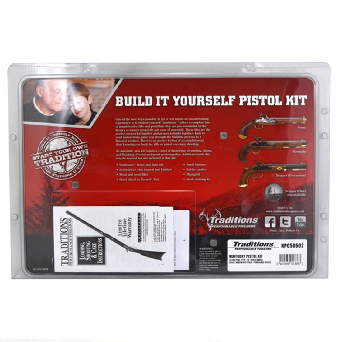 Exquisite New Kentucky Pistol Kit Original Box Papers - 2