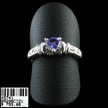 5220: 14 kt. White Gold, Tanzanite & Diamond Ring