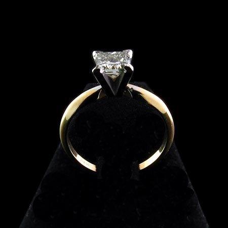 5236: APP.: $4.5K, 14 kt. Gold, 1.01CT Princess Diamond