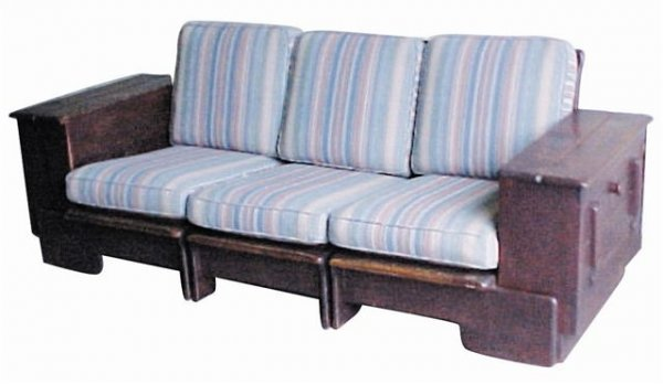 5227: Old Hickery Sofa, Arts & Crafts style