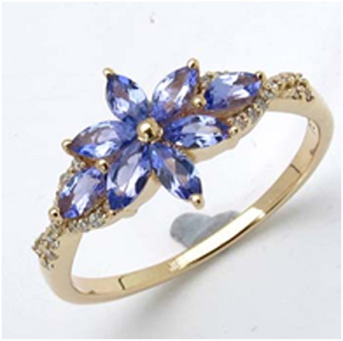 *Fine Jewelry 14K Gold, 2.13CT Tanzanite Marquise And