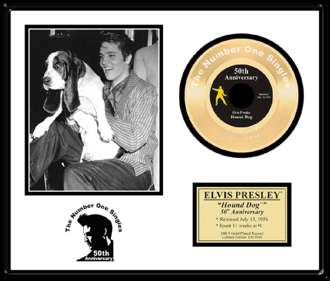 ELVIS PRESLEY ''Hound Dog '' Gold Record-50th