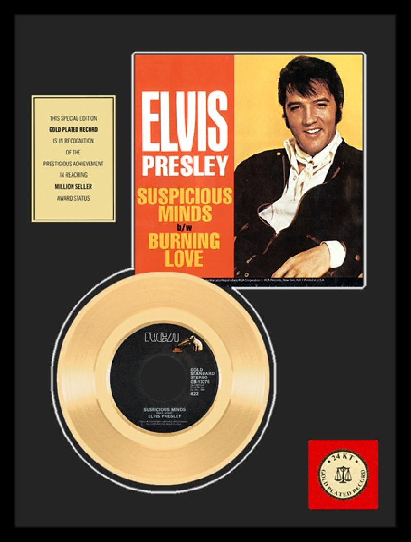 ELVIS PRESLEY ''Suspicious Minds'' Gold Record