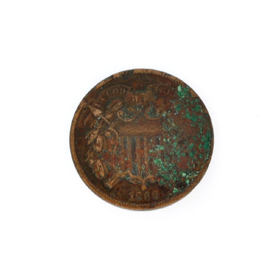 Rare 1866 Two-Cents Piece Coin