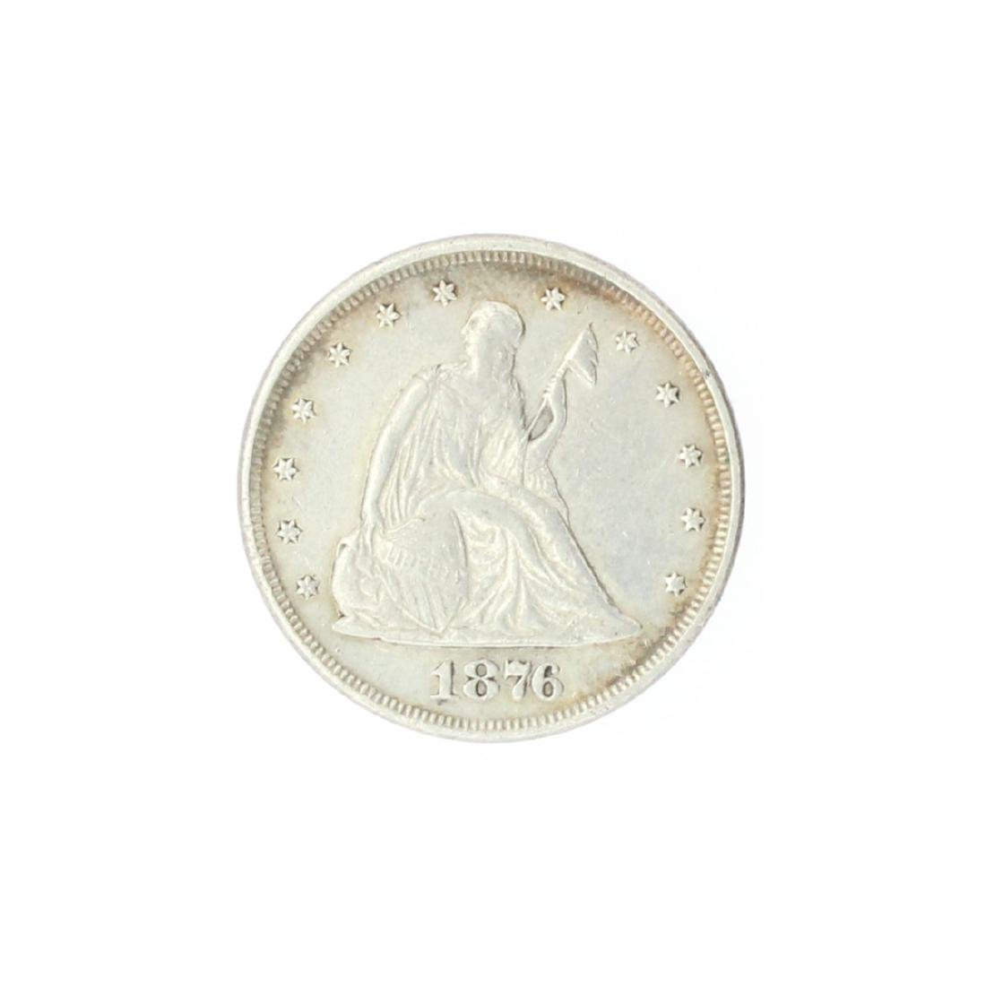 1876 Liberty Seated Twenty Cent Coin