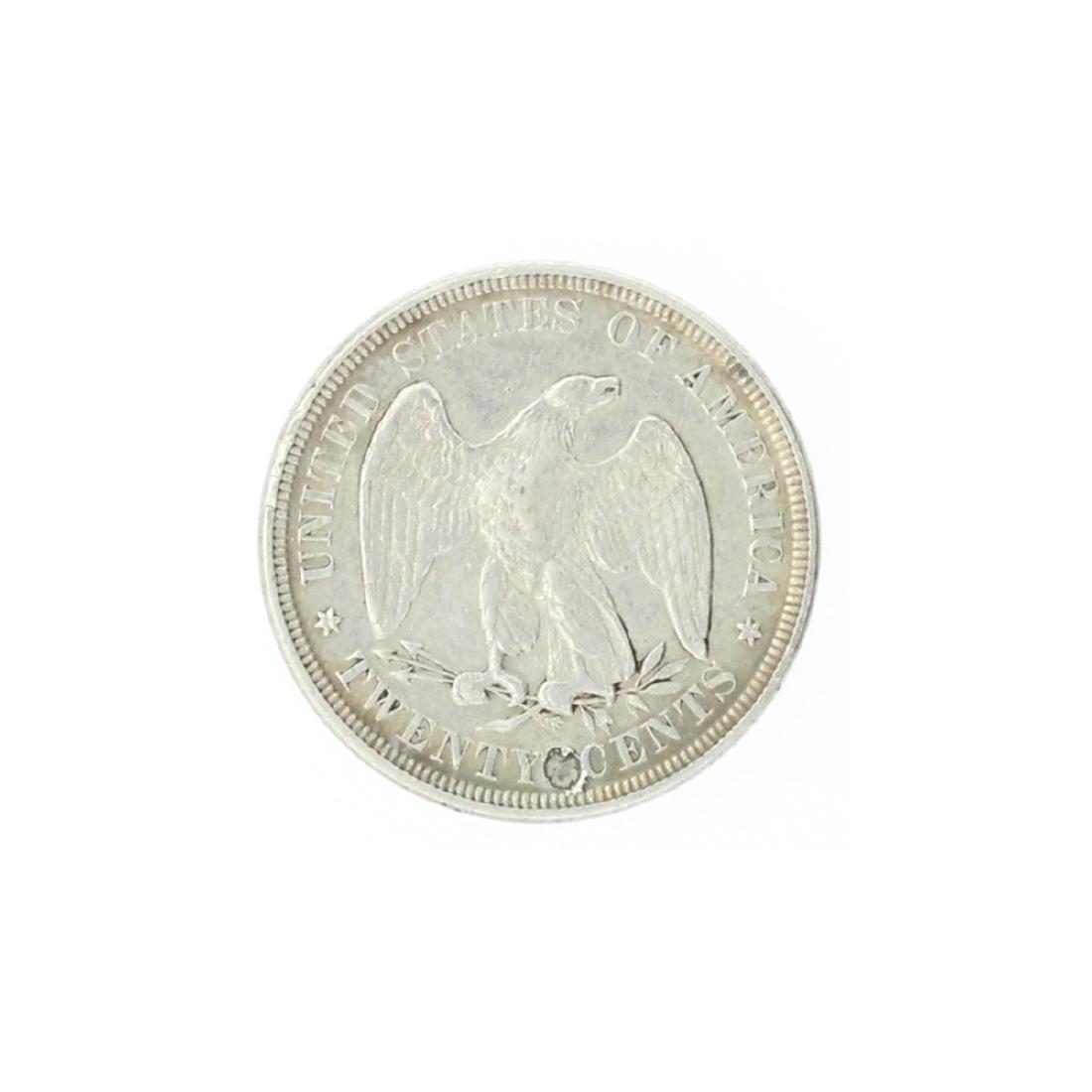 1876 Liberty Seated Twenty Cent Coin - 2