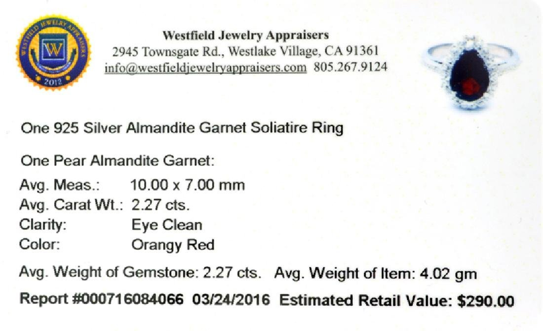 APP: 0.3k Fine Jewelry 2.27CT Pear Cut Almandite Garnet - 2