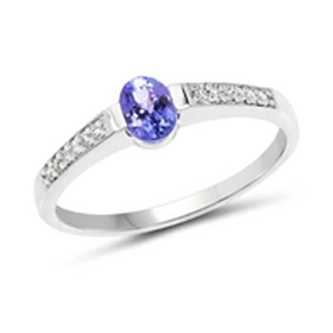 *Fine Jewelry 14K White Gold, 2.08CT Tanzanite And