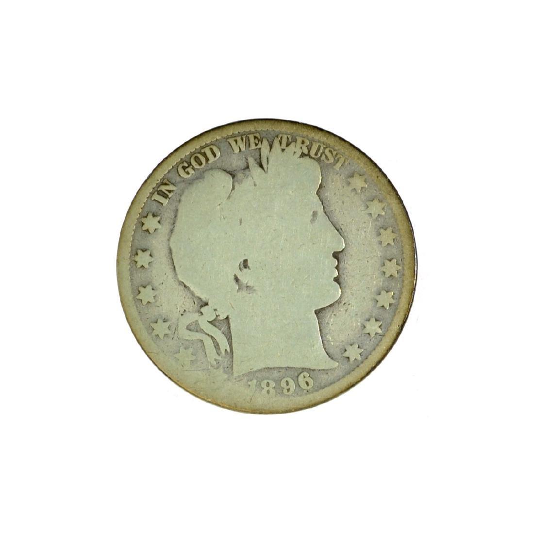 *1896 Barber Half Dollar Coin (JG)