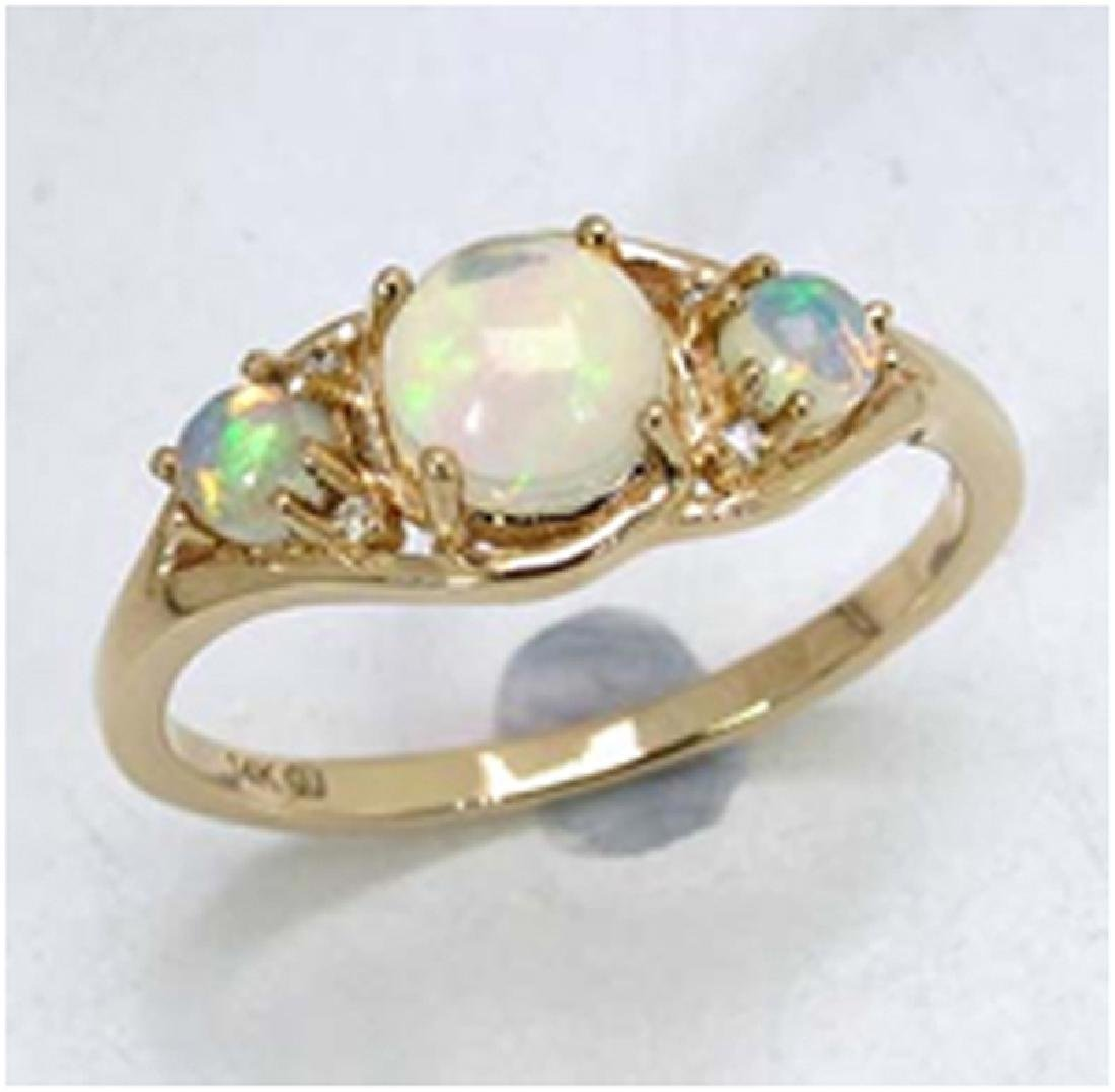 *Fine Jewelry 14K Gold, 2.38CT Ethiopian Opal And White