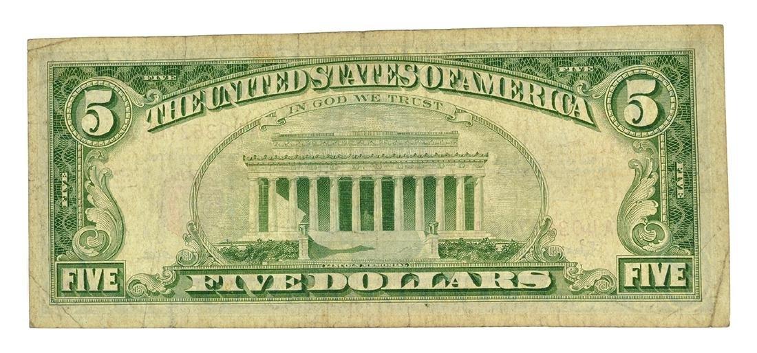 Rare 1963 $5 U.S. Red Seal Note - 2