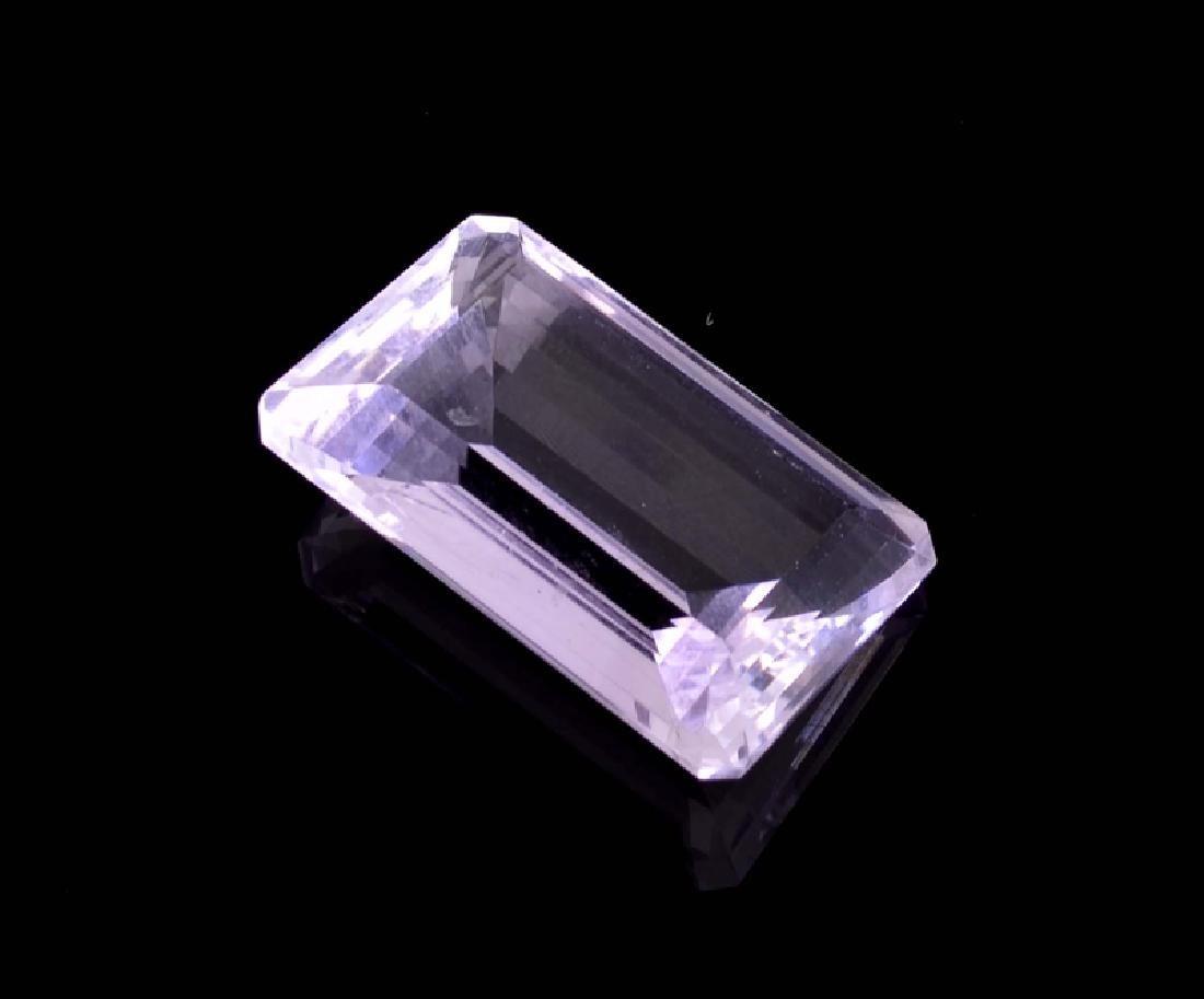 APP: 0.8k 26.00CT Emerald Cut Amethyst Quartz Gemstone